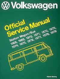 car repair service maintenance manual book  volkswagen station wagon / bus